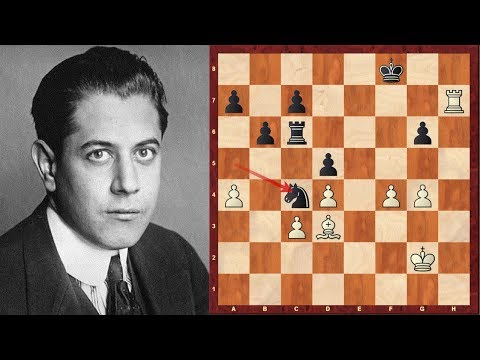 Chess Genius: José Raúl Capablanca - Top Five Chess Sacrifices!