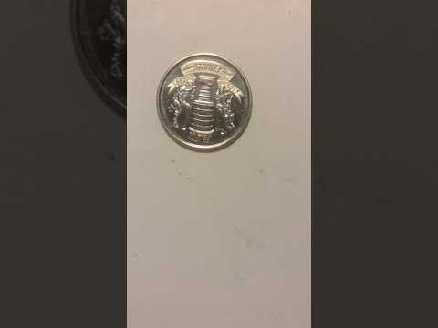 Canadian Stanley  Cup  1892-2017 125 years  Anniversary 25 cent coin