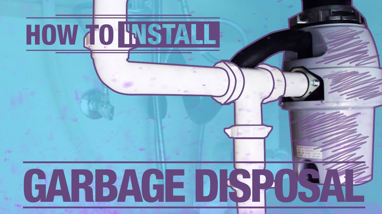 How To Install A Garbage Disposal Youtube
