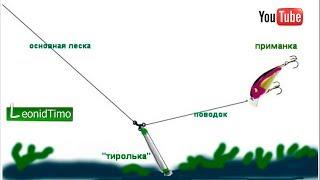 Популярная оснастка на окуня и судака. Отводной поводок с поплавком.  Рыбалка
