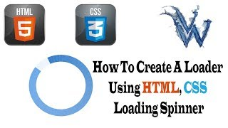 How To Create html loader animation, CSS Loading Spinner By Amazing Techno Tutorials