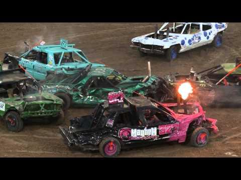 Utah County Fair Demolition Derby 2015