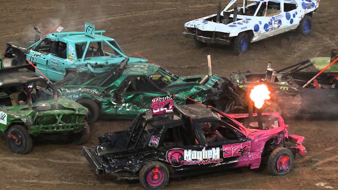e081089b7 Utah County Fair Demolition Derby 2015 - YouTube