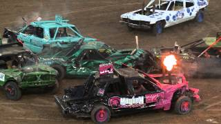 Utah County Fair Demolition Derby 2015