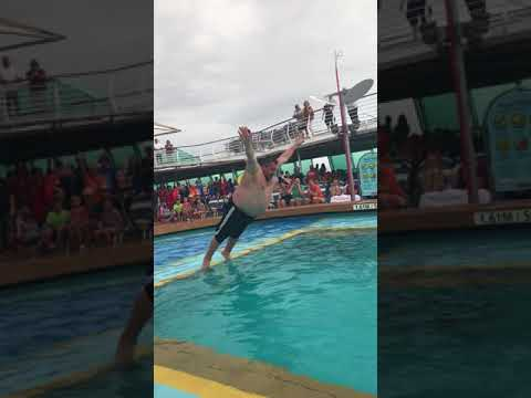Vision of the Seas Belly Flop