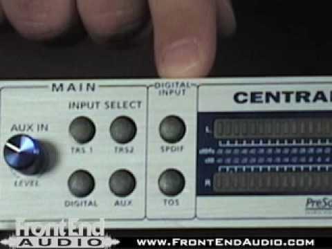 PreSonus Central Station Studio Control Center @ FrontEndAudio.com