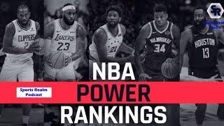 Nba Power Rankings- Top 5, Lebron James Vs. Giannis Antetokounmpo
