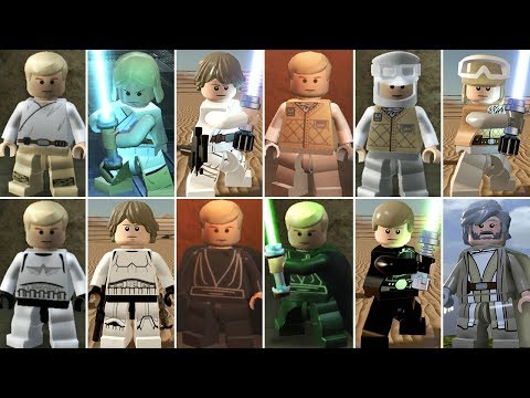 Luke Skywalker Evolution In LEGO Videogames