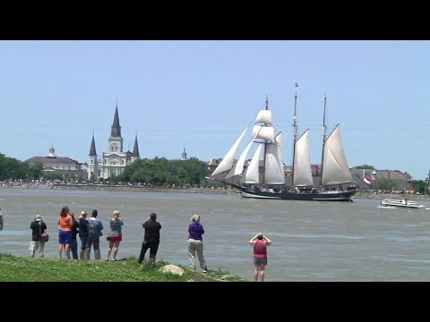Historic Tall Ships Arrive in New Orleans