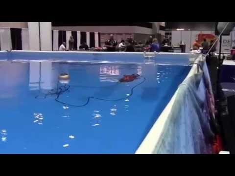 Sea Wolf ROV opperating in pool