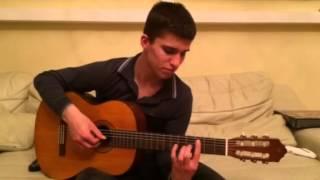 Обучение игры не гитаре . крестный гитарист !