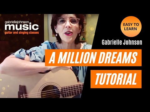 A Million Dreams - EASY GUITAR TUTORIAL BEGINNERS - Gabrielle Johnson Music