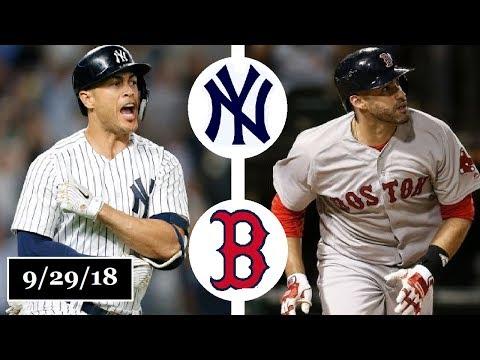 New York Yankees vs Boston Red Sox Highlights || September 29, 2018