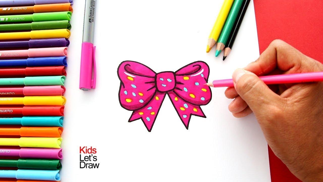 Cómo Dibujar Un Moño O Lazo De Pelo De Manera Fácil How To Draw A