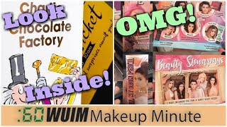 INSIDE Storybook Cosmetics's Chocolate Factory Palette + YouTubers Collab w/Benefit! | Makeup Minute