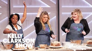 Kelly Sings While Making Chocolate Cake With Tichina Arnold, Steven Weber And Danielle Kartes