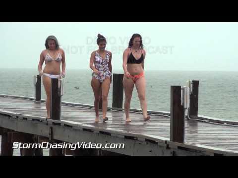 7/25/2015 Anna Maria, FL Heavy Rain, High Winds & Street Flooding