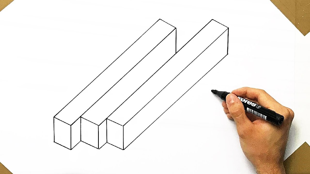 optical illusion draw easy drawing cool super trick