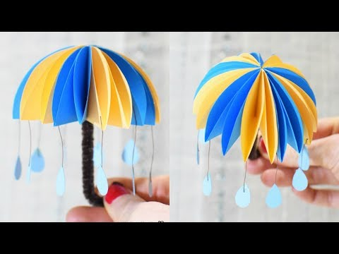 Paper Crafts for Kids - How to Make Paper Umbrellas