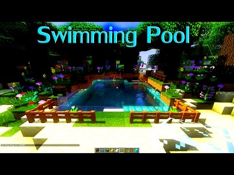 Minecraft: How to build Modern Swimming Pool?