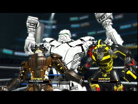 REAL STEEL-BEATING ZEUS (ZEUS vs VESPULA vs PALLADIUS) ЖИВАЯ СТАЛЬ XBOX360/PS3