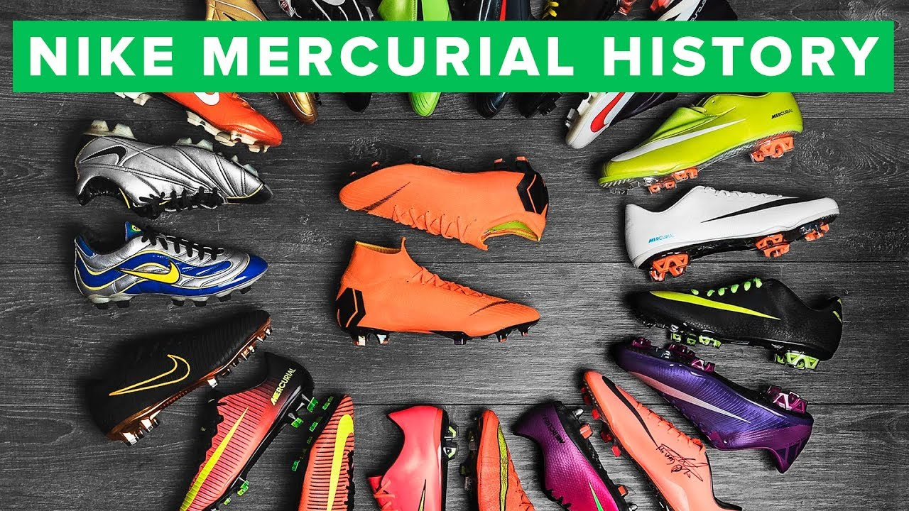 De confianza Manuscrito muy agradable  NIKE MERCURIAL - the history of all Nike Mercurial Vapor & Superfly  football boots - YouTube