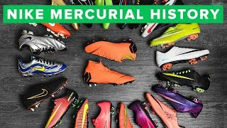 Nike Mercurial football boot history. To celebrate the launch of th...