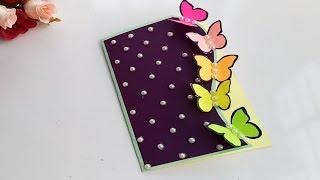 Beautiful Handmade Butterfly Birthday card//Birthday card idea.