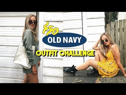 $50 Old Navy Outfit Challenge  Trends for Less! ☆
