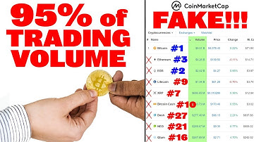 🔵 FAKE Trade Volume (95%!) on CoinMarketCap! These are real standings: BTC#1, EOS#2, ETH#3, BNB#4
