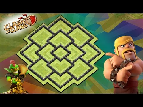 Best Town Hall 8{Th-8} Defense Layout Design {2017} [With Bomb Tower] Clash Of Clans