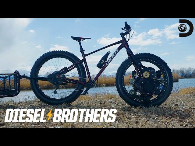 Auctioning off a Diesel-Powered Bicycle for Charity | Diesel Brothers