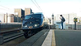 【千早駅・787系・臨時特急】787系BM363特急36ぷらす3博多行通過シーン