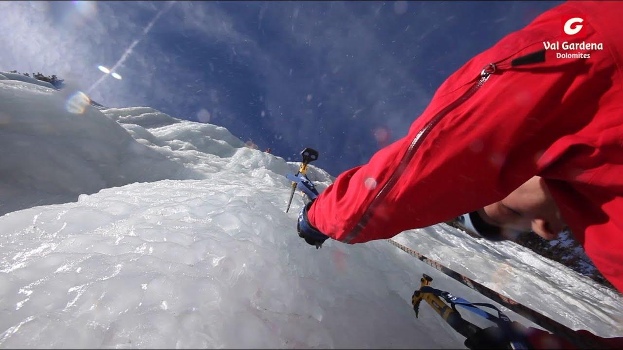 Arrampicata su ghiaccio in val gardena   eisklettern in gr�den   ice climbing in val gardena