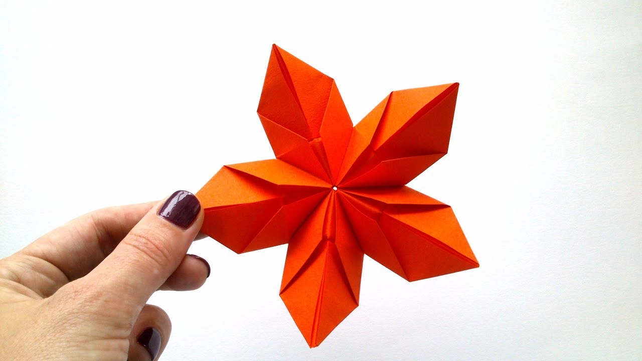 Modular Origami Flower Of 5 Petals Youtube