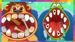 Jogos para Crianças - Médico Infantil: Dentista - O Leão e o Jacaré vão ao dentista
