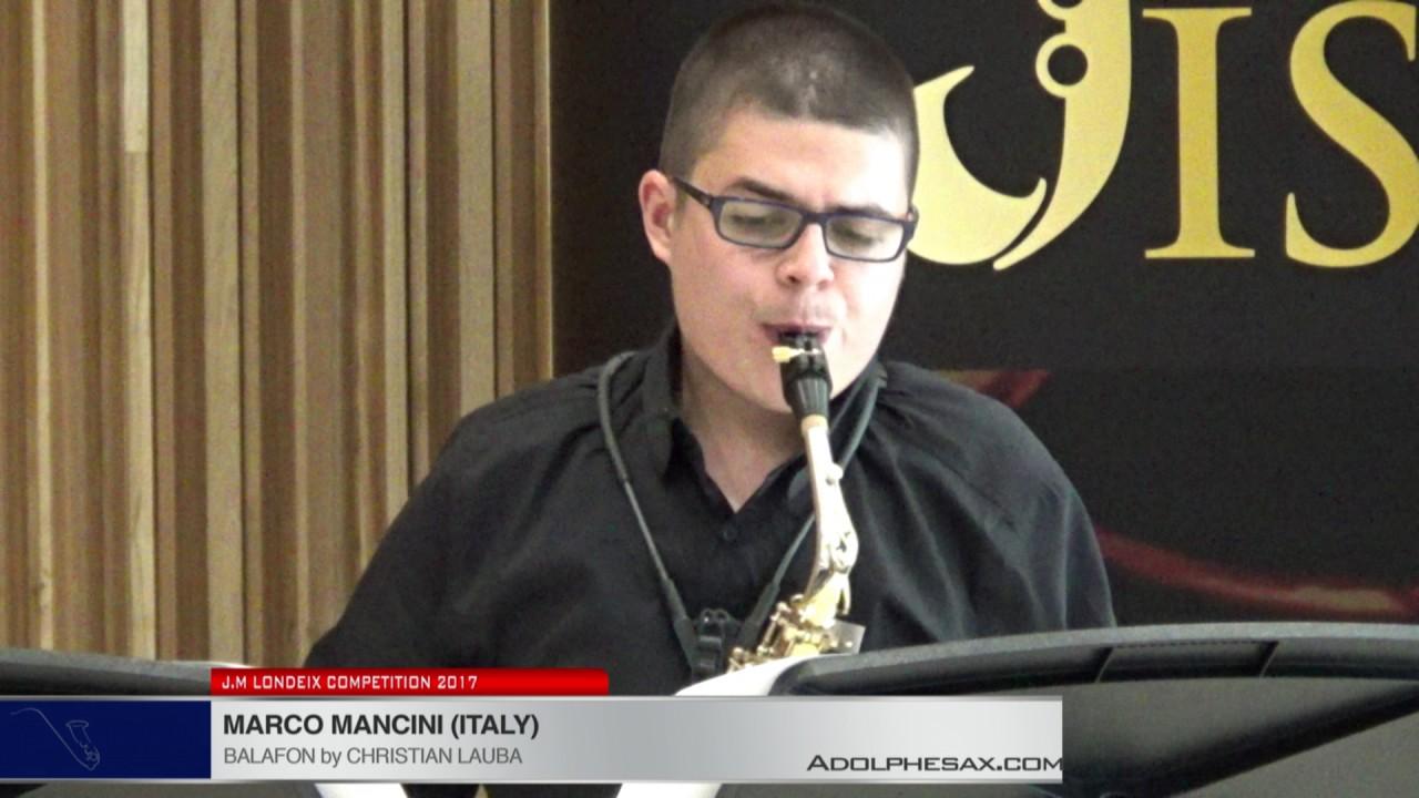 Londeix 2017 - Marco Mancini (Italy) - Balafon by Christian Lauba