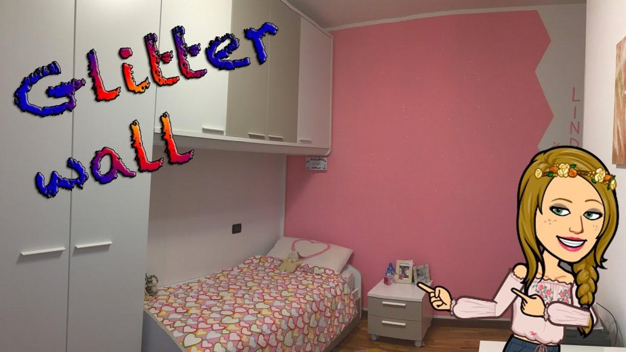 Idee Pittura Cameretta Bambina glitter wall (bedroom) cameretta bambini con parete di brillantini