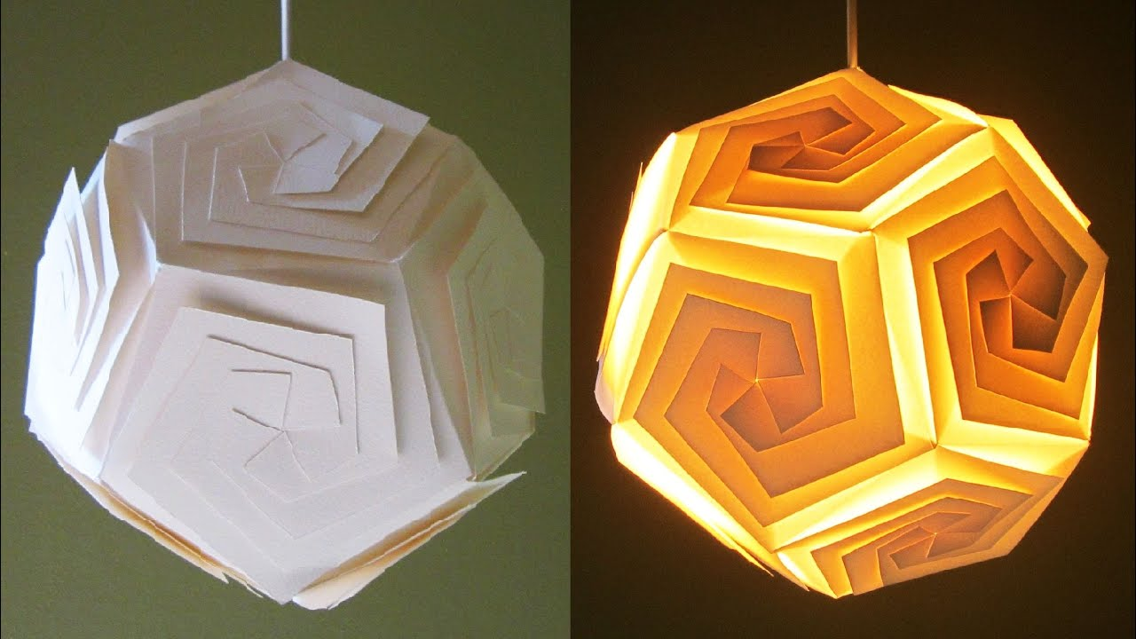 DIY Pendant Lampshade/lantern   Home And Room Decor   EzyCraft   YouTube