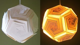 DIY pendant lampshade/lantern - home and room decor - EzyCraft