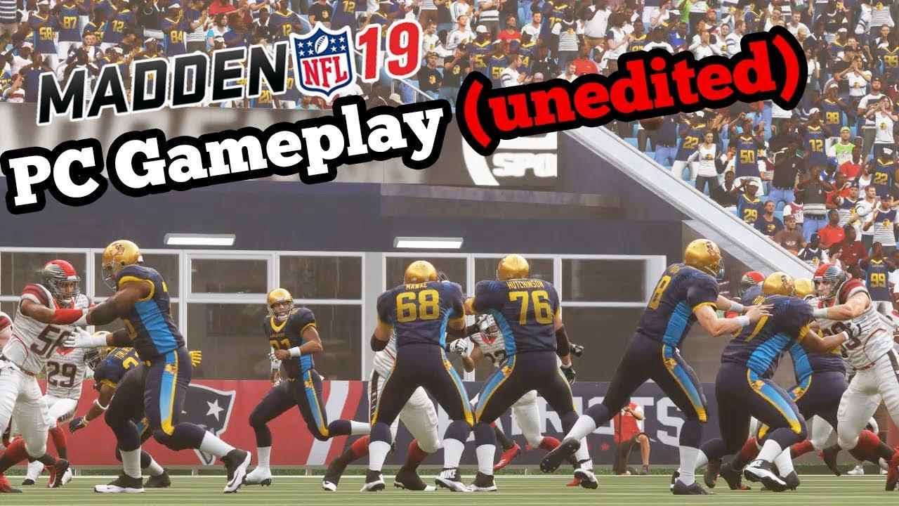 Madden 19 PC Gameplay - Madden 19 Gameplay Leak (Unedited)