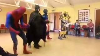 superheroes dance to uptown funk by mark ronson ft bruno mars