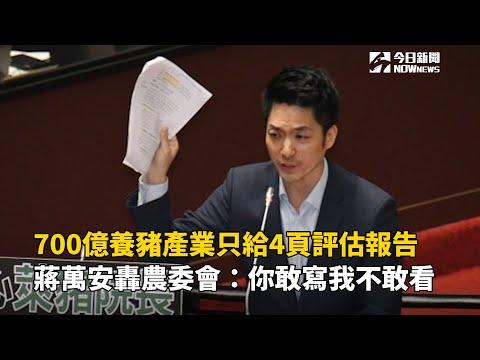 700億養豬產業只給4頁評估報告 蔣萬安轟農委會:你敢寫我不敢看