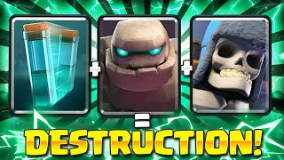 THIS DECK IS LIKE CHEATING!! NEW GOLEM DECK WINS IN ONE PUSH!! - Clash Royale