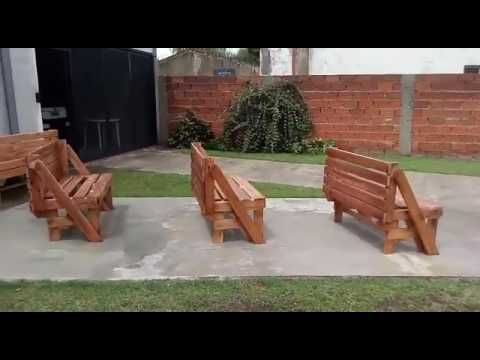 Banco Ha Youtube Se Jardin Plegable E Que MesaDe 4ARc5S3Ljq