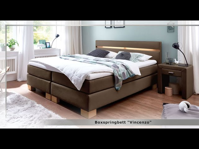 boxspringbett in wei und z b 200x200 cm gr e vincenzo. Black Bedroom Furniture Sets. Home Design Ideas