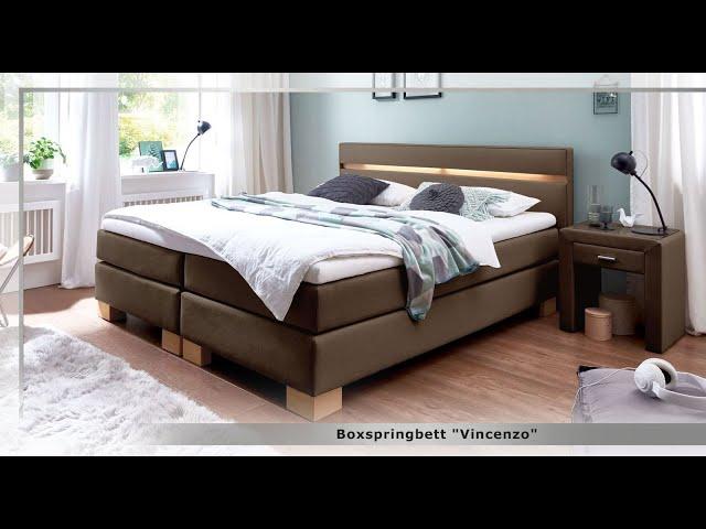 boxspringbett in wei und z b 200x200 cm gr e vincenzo. Black Bedroom Furniture Sets. Home Design Ideas