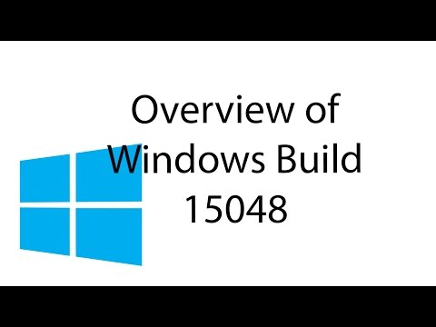 Overview of Windows 10 Fast Ring Insider Build 15048