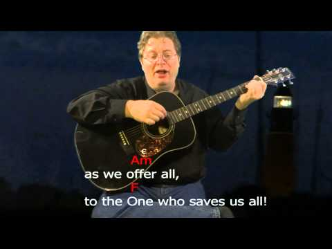 """Learn to Play - """"The One Who Saves"""" - Chord Practice - Key = C Major"""