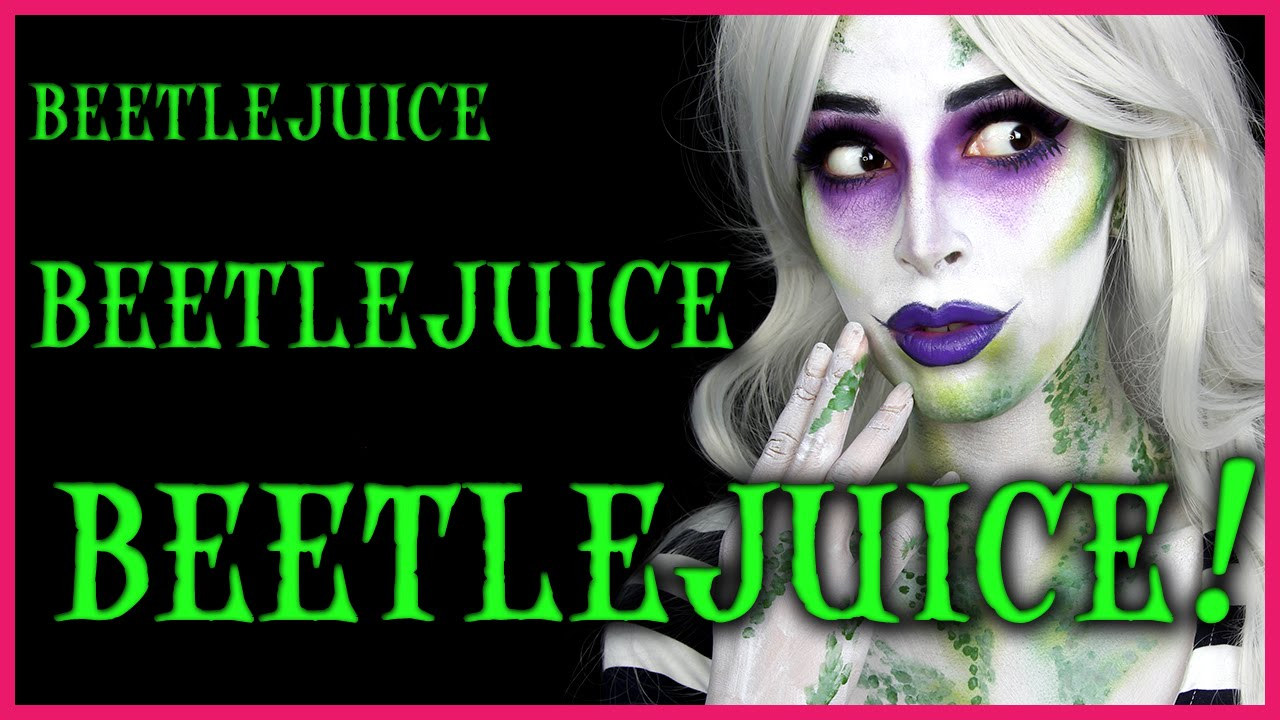 Beetlejuice Halloween Makeup Tutorial - YouTube